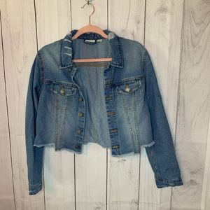Noisy May Cropped Denim Jacket Size L
